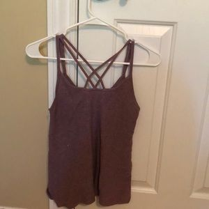 American eagle purple cris cross tank top